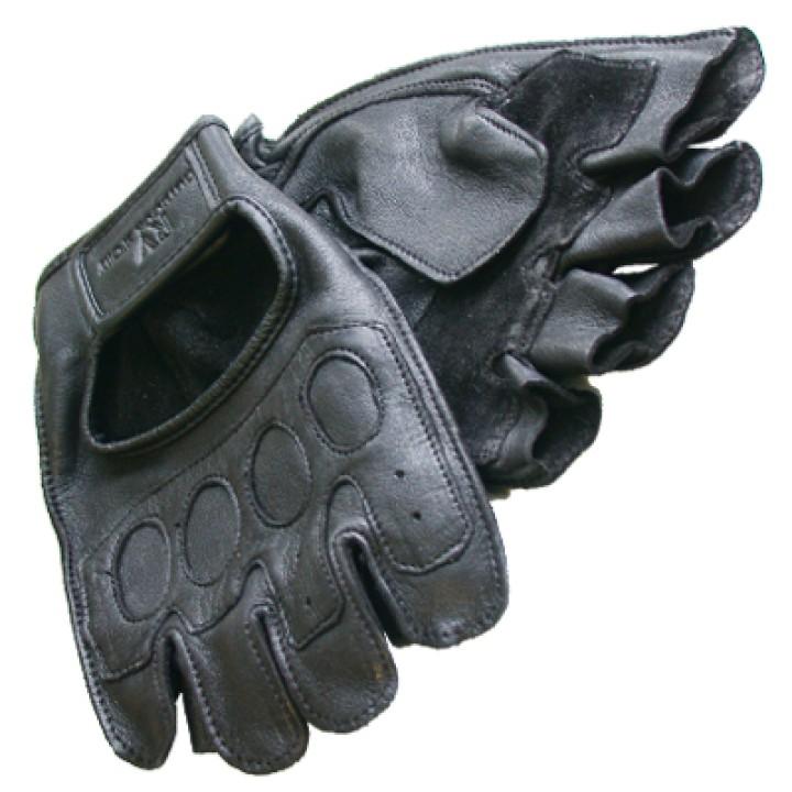 Кожаные черные перчатки для авто RV-33